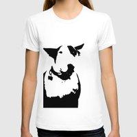 bull terrier T-shirts featuring English Bull Terrier by Alex Birch
