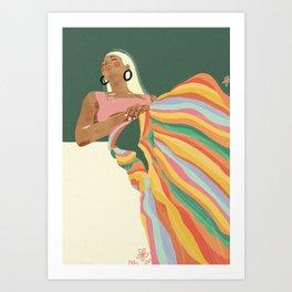 Rainbow Lady Art Print