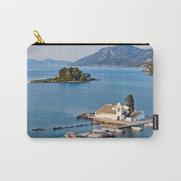 Panagia Vlacherna and mouse island at Corfu, Greece Carry-All Pouch