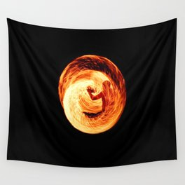 Fire Egg with Man Inside Wall Tapestry