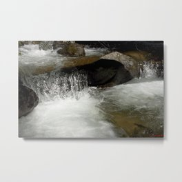 Icy Waters of Fall Creek at Vallecito Metal Print