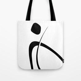 Interlocking Three - Minimalist Line Abstract Tote Bag