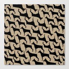Dog -Doberman: Black Khaki Canvas Print