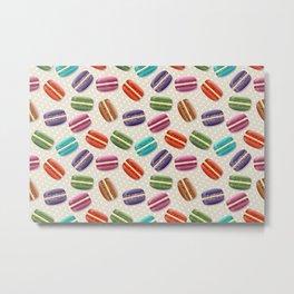 Colorful macarons pattern Metal Print