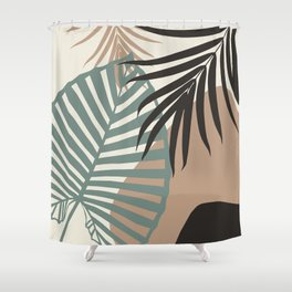 Minimal Jungle Leaves Finesse #1 #tropical #decor #art #society6 Shower Curtain