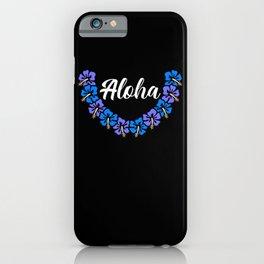 Aloha Hawaiian Lei Hawaiian Lei Flower Necklace iPhone Case