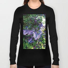 Abstracted Purple Petunias Long Sleeve T-shirt