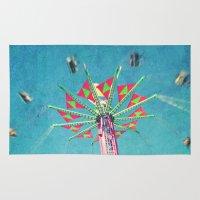 vertigo Area & Throw Rugs featuring vertigo by Sylvia Cook Photography