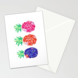 Floral Pineapples Stationery Cards