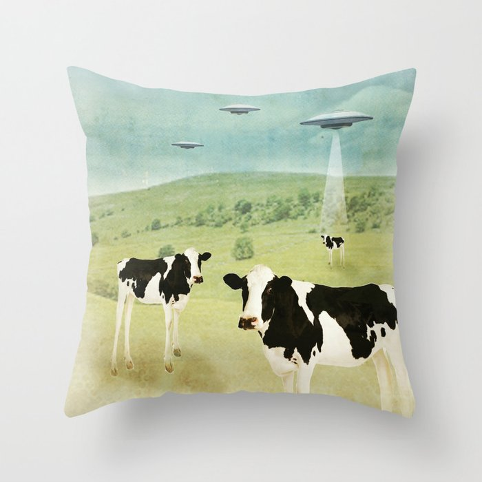 we all like burgers _ US AND THEM  Throw Pillow