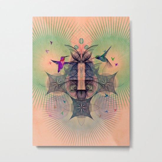 The Hummingbird Dimension Metal Print