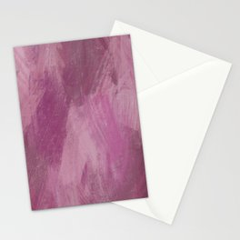 Abstract Fuchsia - Oil Pastels Stationery Cards