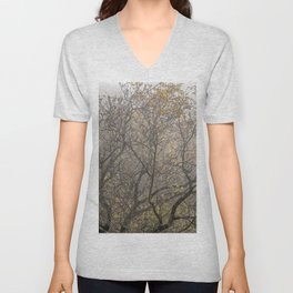 Autumnal tree branches Unisex V-Neck