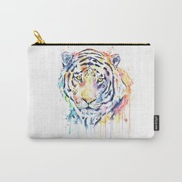 Tiger - Rainbow Tiger - Colorful Watercolor Painting Carry-All Pouch