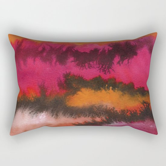 Watercolor abstract landscape 26 Rectangular Pillow