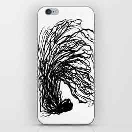 Black and white abstract brushstroke modern minimal monochromatic art print home decor college dorm iPhone Skin