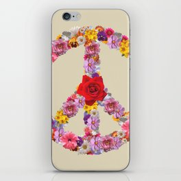 Peace Flower Sign iPhone Skin