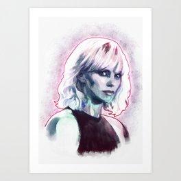 Atomic blonde Art Print