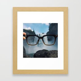 Through These Lenses  Framed Art Print