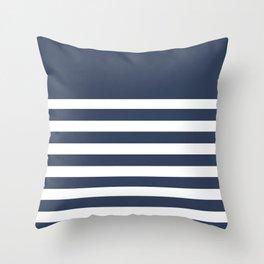 Blue Bretton Stripe Art Throw Pillow