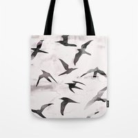 flight Tote Bags featuring Flight by Georgiana Paraschiv