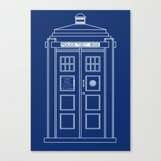 TARDIS Blueprint - Doctor Who Canvas Print
