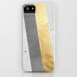 Gold and gray lines iPhone Case