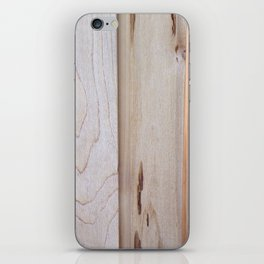 Pine Wood Fence, Boards in a Fence, Pine Boards, Wood iPhone Skin