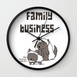 Family Business Wall Clock