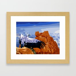 Vulture Spirit Guide Framed Art Print
