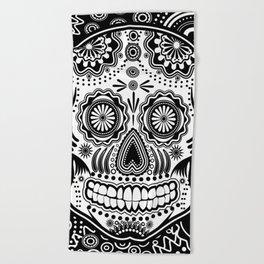 sugar skull Beach Towel