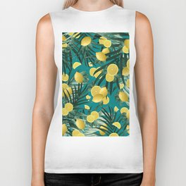 Summer Lemon Twist Jungle #5 #tropical #decor #art #society6 Biker Tank