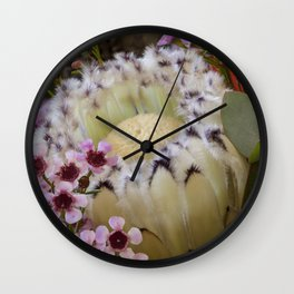 Beautiful Feather Protea Wall Clock