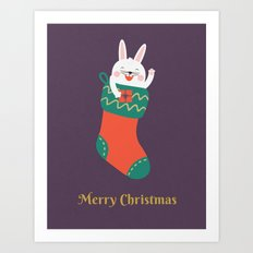 Day 15/25 Advent - Merry Christmas Human! Art Print