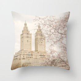 Central Park Blossom #2 Throw Pillow