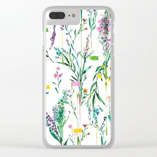 Fleur botanique Clear iPhone Case
