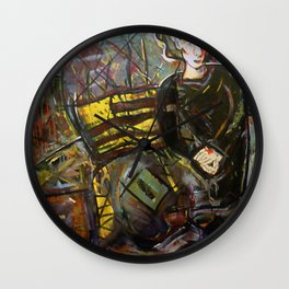 Irish Ghost Matriarch Revisited Wall Clock