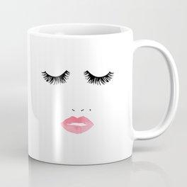 Printable Art,Makeup Print,Makeup Illustration,Lips Print,Lashes Art,Gift For Her,Bedroom Decor Coffee Mug