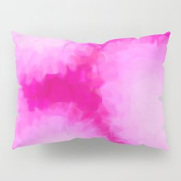 Glowing Pink Floral Abstract Pillow Sham