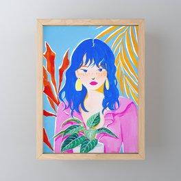 Plant Girl Framed Mini Art Print