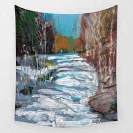 Melting Snow in McKinnon Ravine / Dennis Weber / ShreddyStudio Wall Tapestry