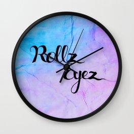 Rollz Eyez Wall Clock