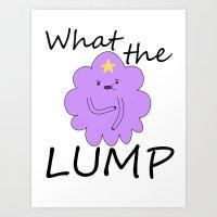 lumpy space princess Art Prints featuring Kawaii Lumpy Space Princess by AstralWisp
