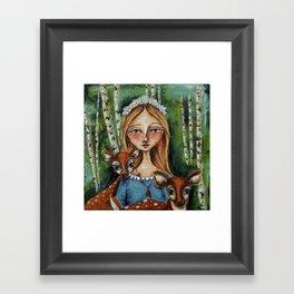 The Forest Maiden Framed Art Print