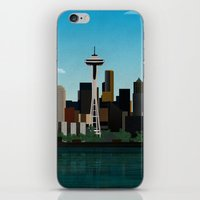 seattle iPhone & iPod Skins featuring Seattle by WyattDesign