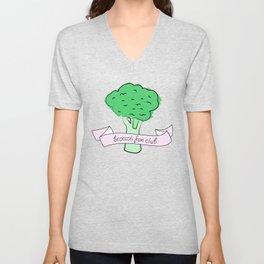 broccoli fan club Unisex V-Neck