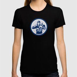 Handyman Repairman Spanner Wrench Spade Retro T-shirt