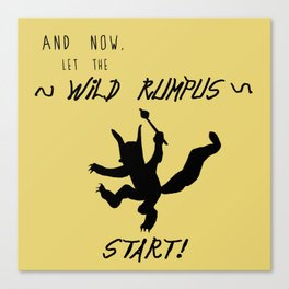 Wild Rumpus (Yellow) Canvas Print