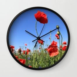 poppy flower no15 Wall Clock