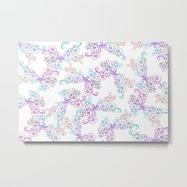 Tender Floral Flower pattern Design Metal Print